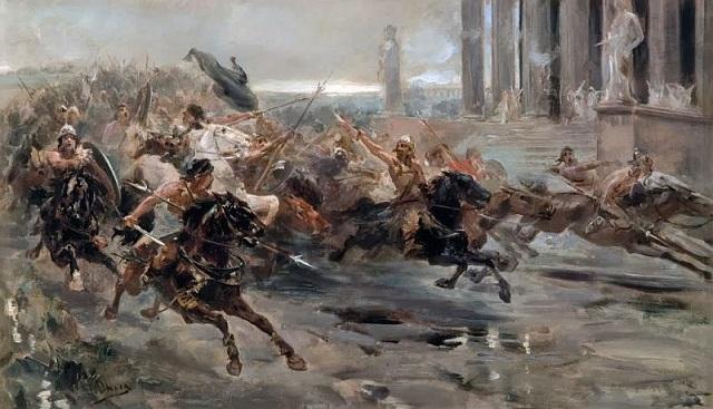『ローマに迫るフン族』ウルピアノ・チェカ