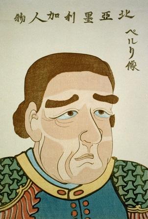 日本の版画に描かれたペリー 嘉永7年(1854年)頃
