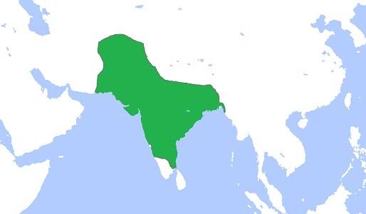 ムガル帝国の最大版図(1700年)