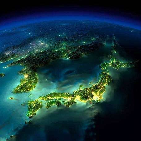 日本列島 夜