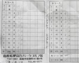 函館桔梗高台PG スコア (1)