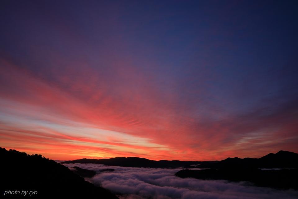 焼けた雲と日暈と_1