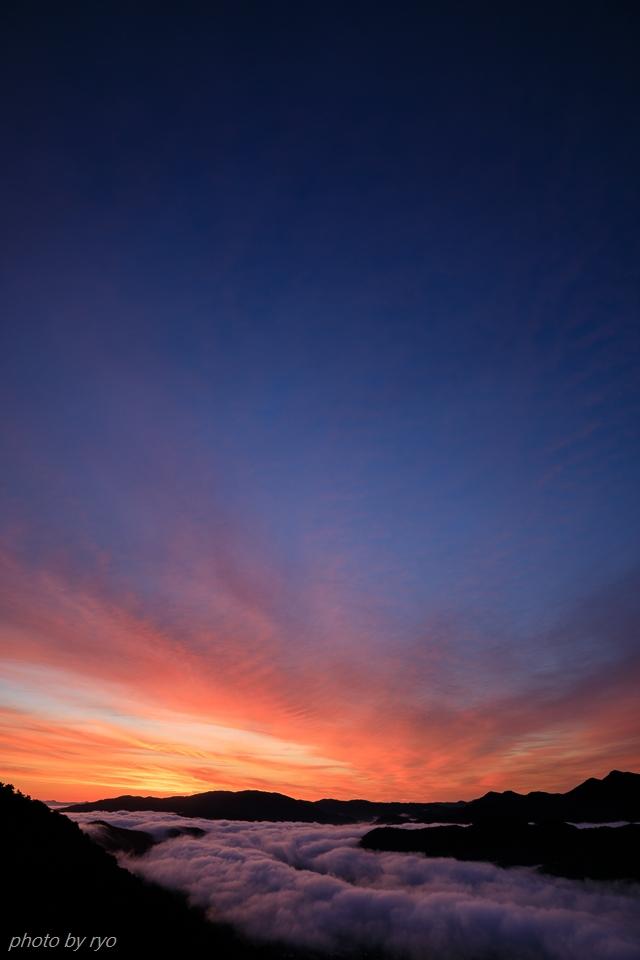 焼けた雲と日暈と_2