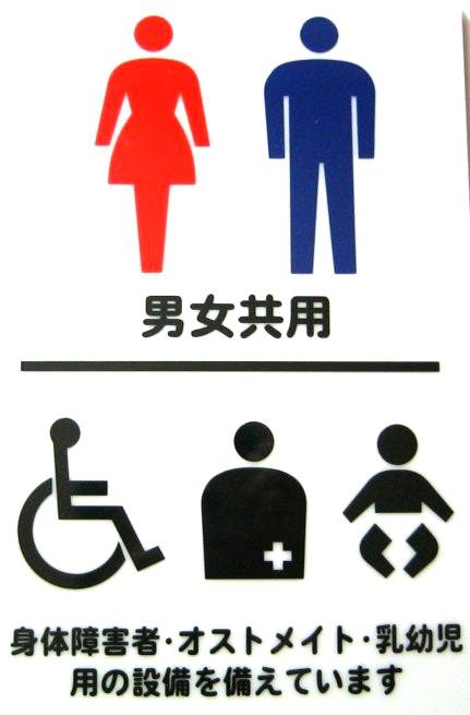 オストメイト対応トイレのマーク