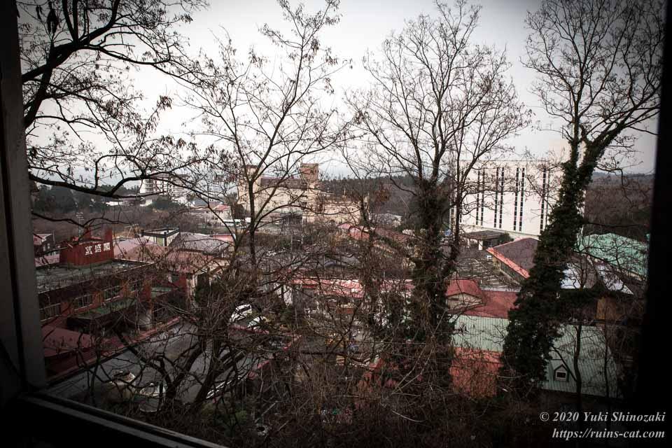 【廃墟】男鹿プリンスホテル_町内俯瞰