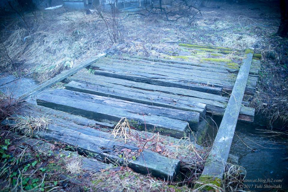 【廃墟】萬治キノコ牧場_木製の橋