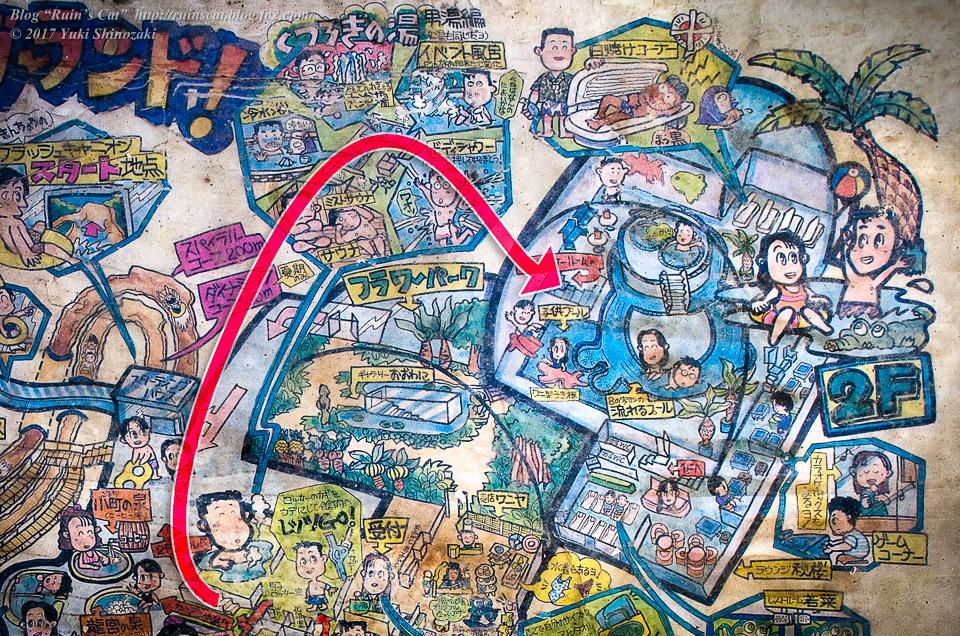 【廃墟】スパガーデン 湯~とぴあ(スパリゾート大鰐)_その4探索経路図示