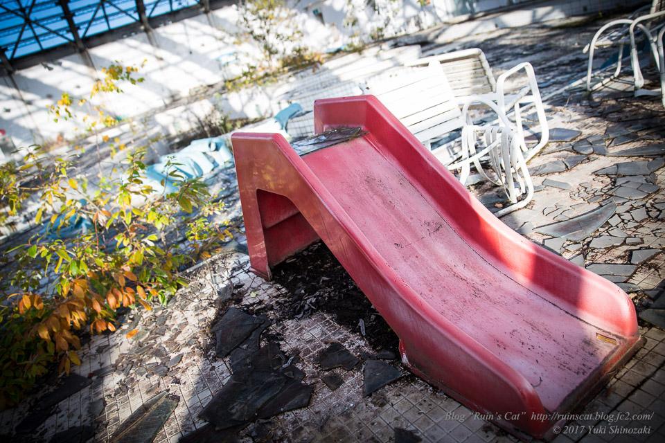 【廃墟】スパガーデン 湯~とぴあ(スパリゾート大鰐)_幼児用滑り台