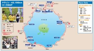 洞爺湖マラソン2017 コースマップ