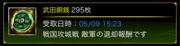 銅銭295枚5月攻城戦