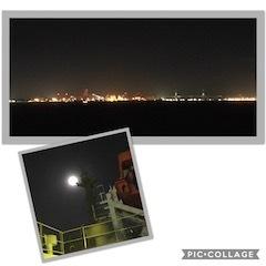 八丈島旅_デッキからの夜景