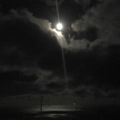 八丈島月夜