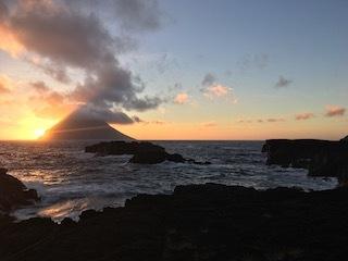 南原千畳敷の夕陽2