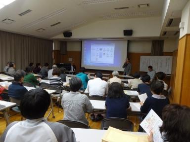 上田町連会長の開講挨拶