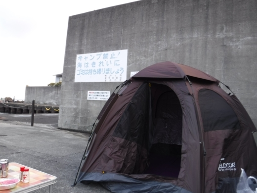 漁港でキャンプ (7)