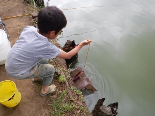 別所沼公園雑魚釣り (20)