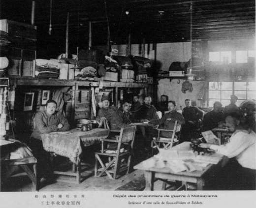 ドイツ兵捕虜松山俘虜収容所下士官収容舎室内1