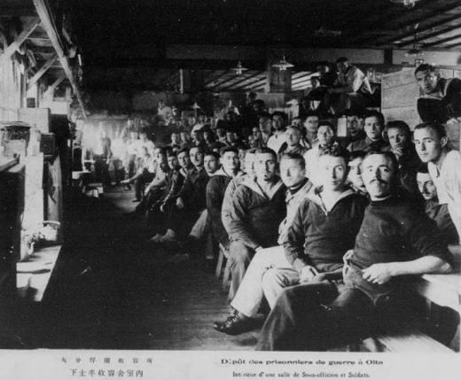 ドイツ兵捕虜大分収容所下士卒収容舎室内1
