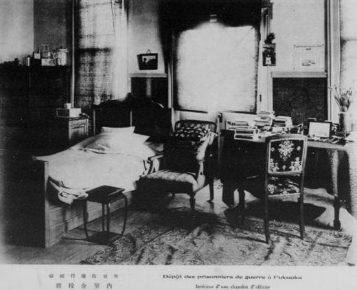 ドイツ兵捕虜福岡収容所将校収容舎室内1