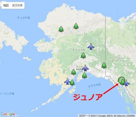 地図アラスカジュノア1