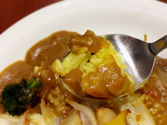 だいきちカレーの黄色の米