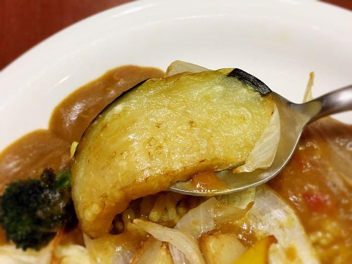 だいきちカレー揚げ野菜カレーのなすび