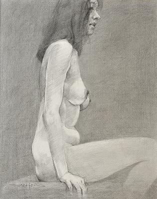 裸婦デッサン1