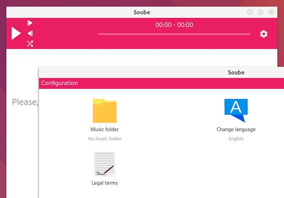 Soube Ubuntu 音楽プレイヤー 楽曲フォルダの選択