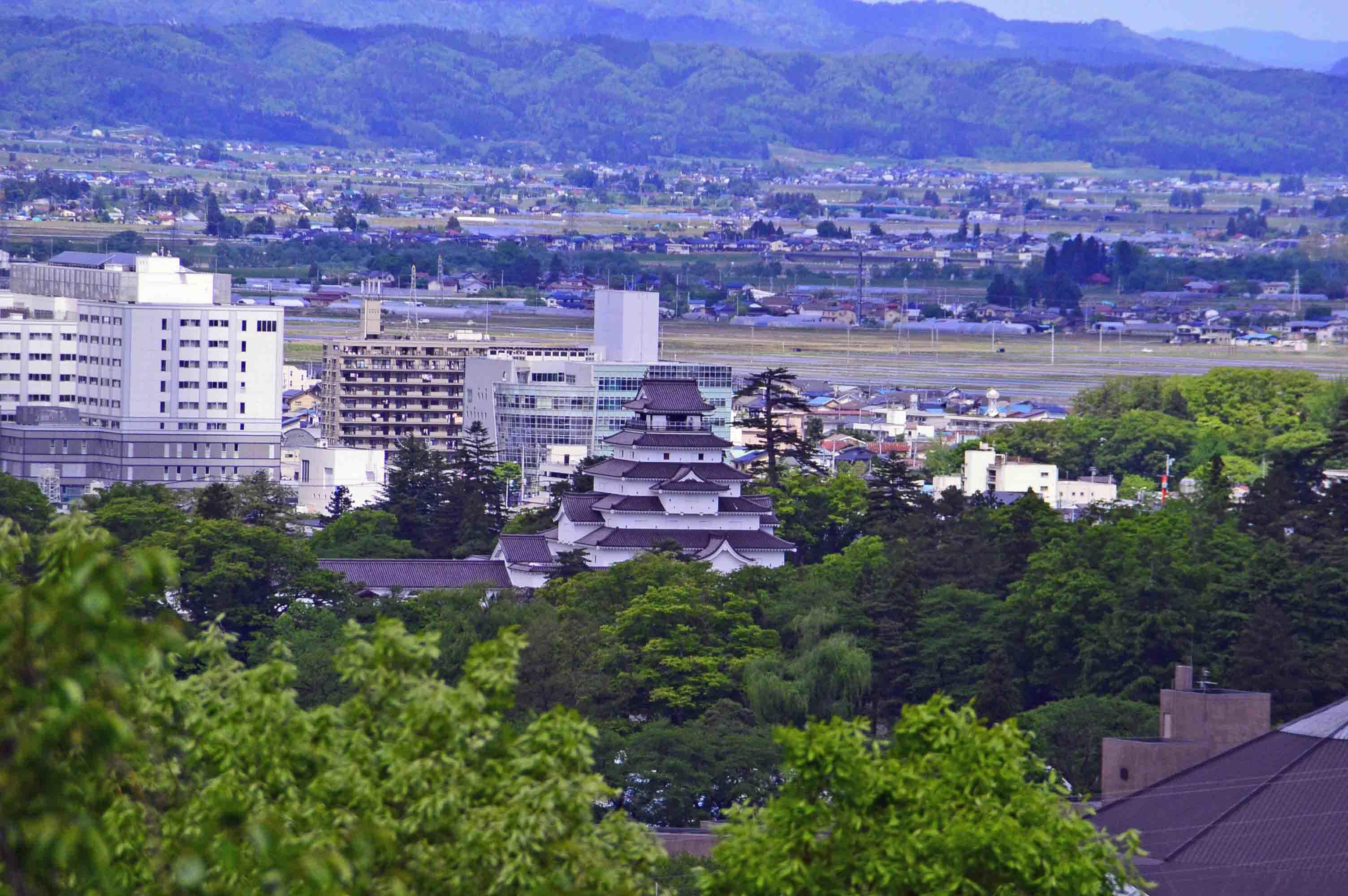 小田山から見た鶴ヶ城