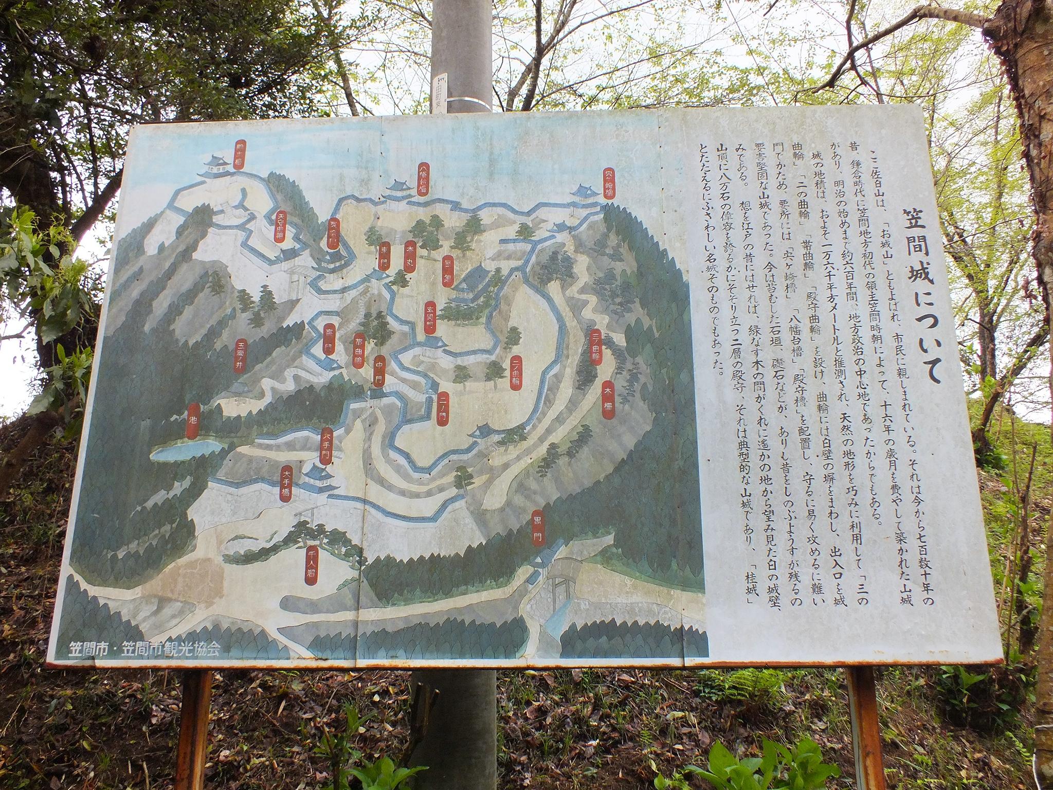 笠間城 説明板