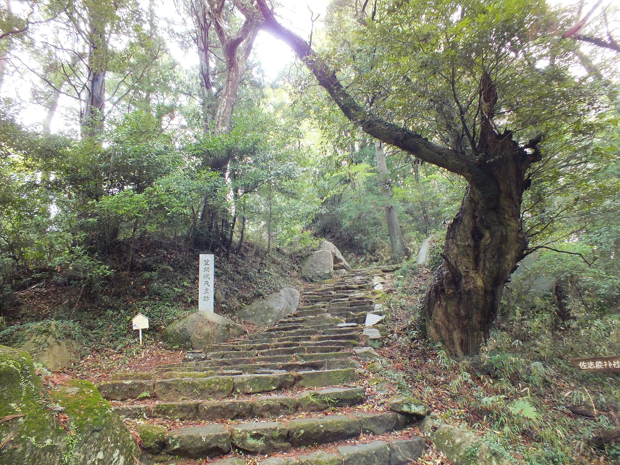 笠間城 天守曲輪の石段