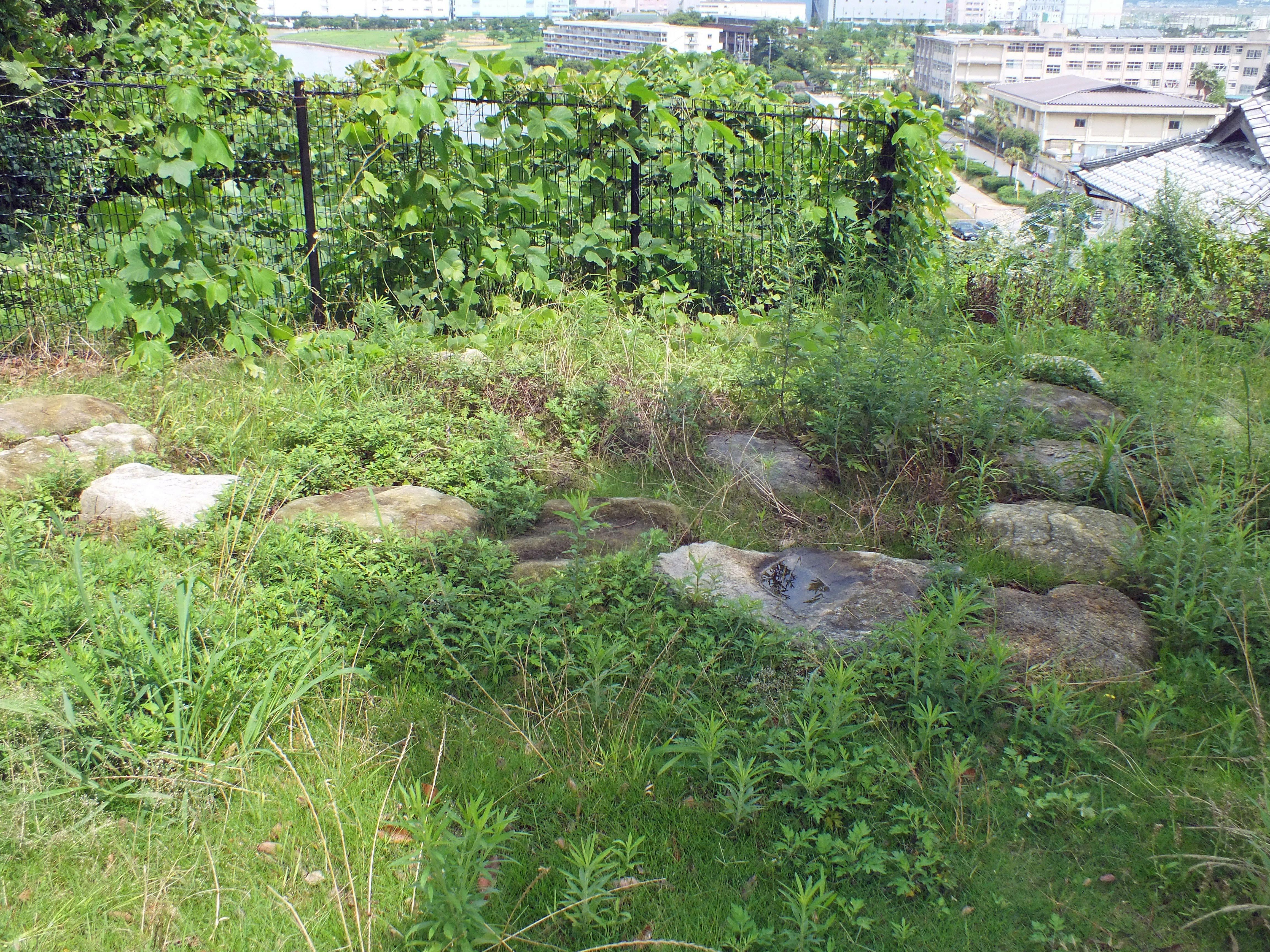 名島城 櫓礎石