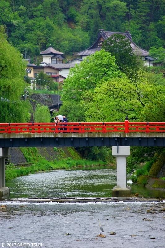 絶景探しの旅 - 0223 小雨の飛騨高山の赤い中橋 (岐阜県 高山市)
