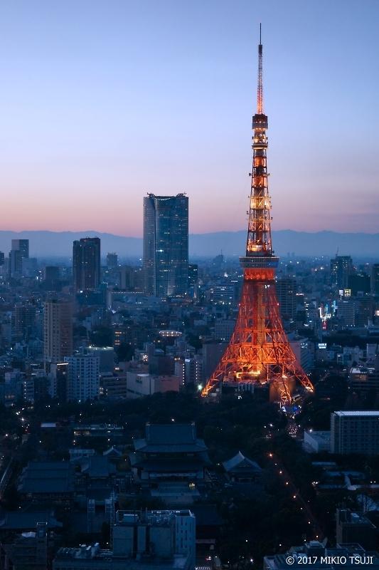 絶景探しの旅 - 0266 マジックアワーの東京タワーと六本木ヒルズ (東京都 港区)